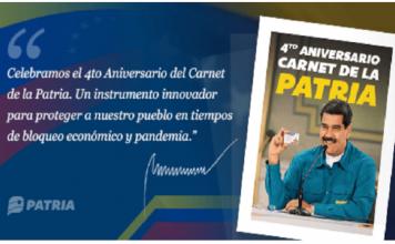 Aniversario del Carnet de la Patria