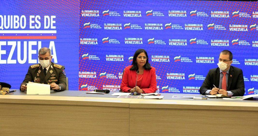Vicepresidenta Delcy Rodríguez-ejercicios militares Guyana-EEUU