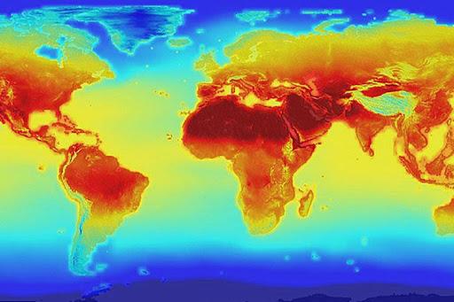 el tercer año más caliente