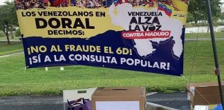 """""""Consulta"""" del antichavismo: poco pueblo y el olvido"""