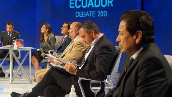 debate presidencial en Ecuador