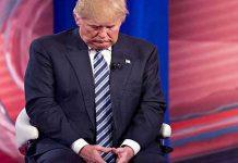 Donald Trump en aislamiento