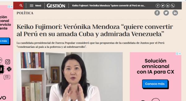 Candidatos de la República del Perú buscan votos en Venezuela