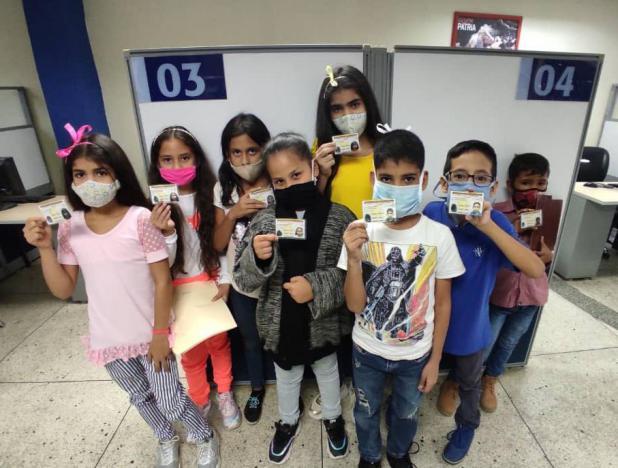 Más de 90 mil niños y niñas cedulados