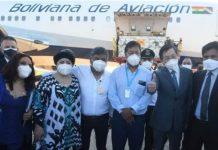 Bolivia recibe vacunas