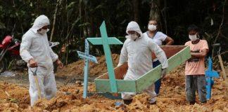 Brasil continúa liderando récord en fallecidos por coronavirus