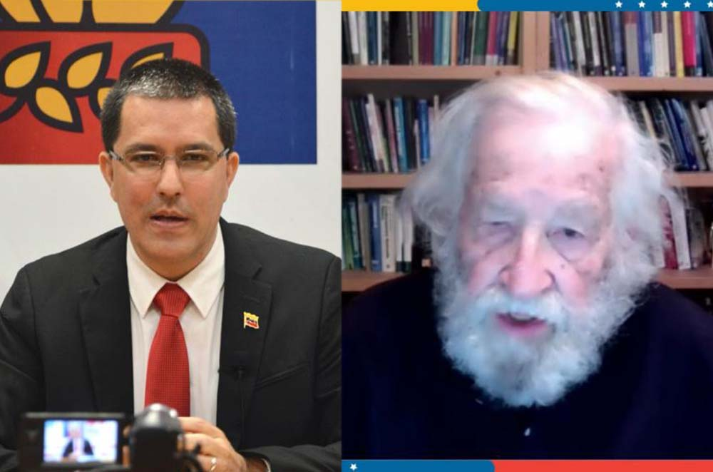 Canciller Jorge Arreaza-Noam Chomsky-medidas coercitivas