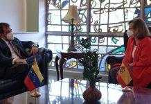 Cristina Gallach vice-canciller española de visita en Caracas