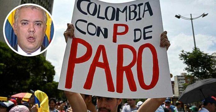 convocan a paro colombia