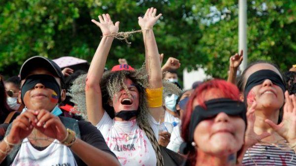 Represión policial en Colombia