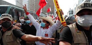 Candidato izquierdista peruano