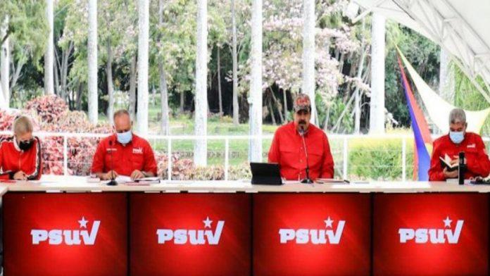 Presidente Maduro saluda a la base del Psuv