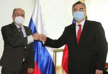 Presidente del CNE y Embajador Ruso