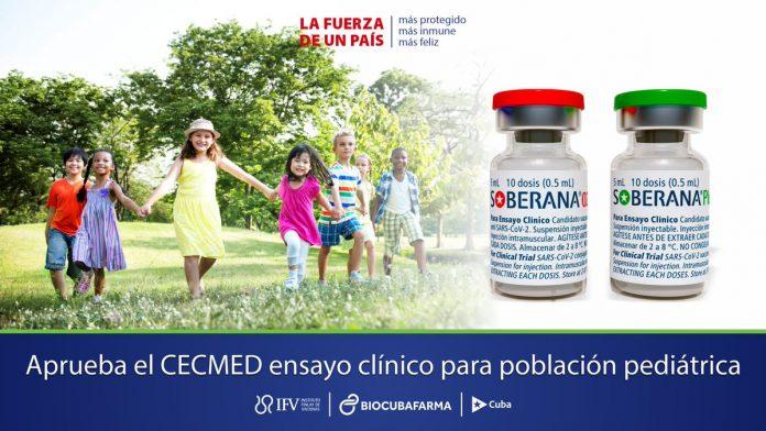 ensayos clínicos pediátricos-vacunas-Cuba-covid-19