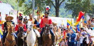 entrada triunfal-Libertador-caracas-200 años