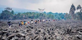 volcán en el Congo