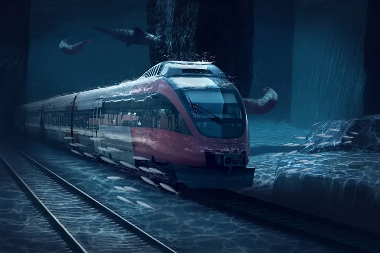 Un tren submarino