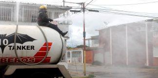 Refuerzan jornadas de desinfección contra la COVID-19 en La Isabelica