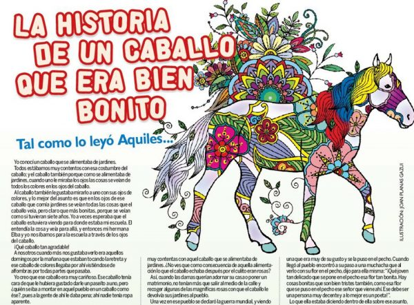 Joan caballo ilustración