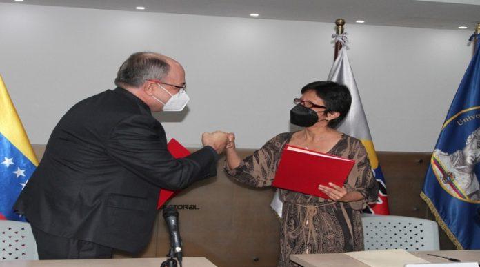 CNE y UBV firman convenio para trabajar por la institucionalidad del Estado