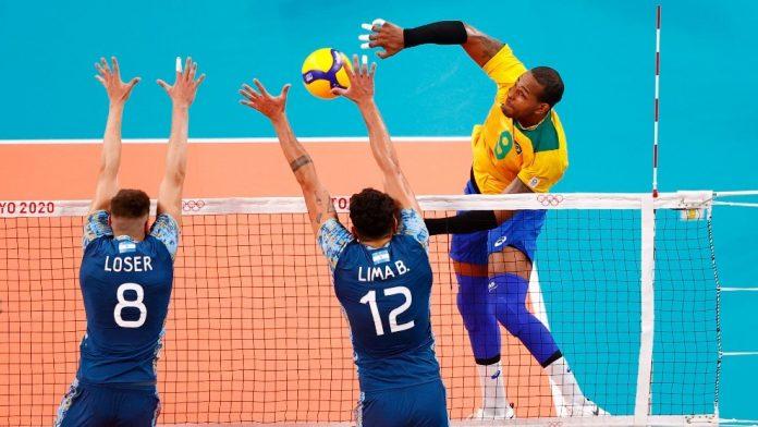 Brasil vence a Argentina en Voleibol olímpico masculino