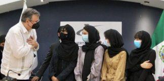 México recibe a grupo de mujeres procedentes de Afganistán