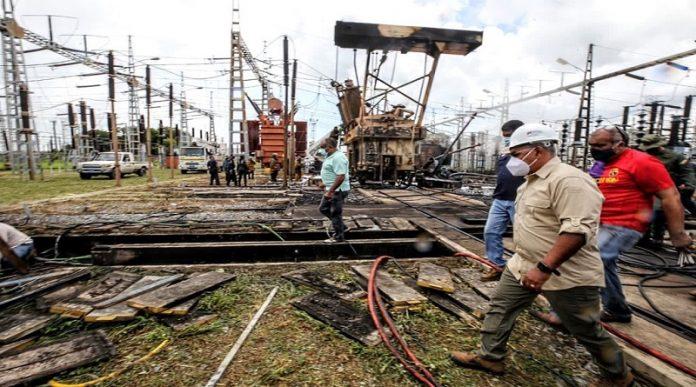 Arranca recuperación de subestación Aragua afectada por ataque al SEN