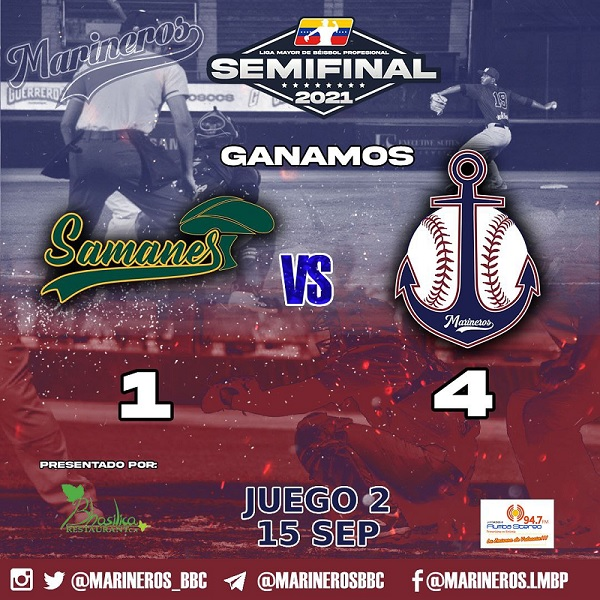 Marineros de Carabobo empata semifinal
